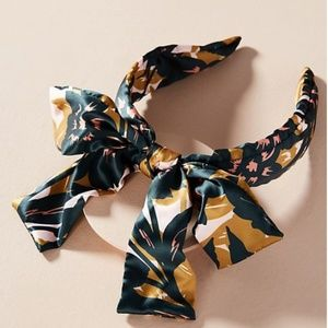 Anthropologie BOW-TIED TROPICAL HEADBAND